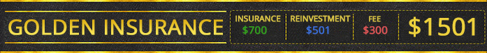 Golden Insurance | $700 | $501 | $300 | Total: $1501